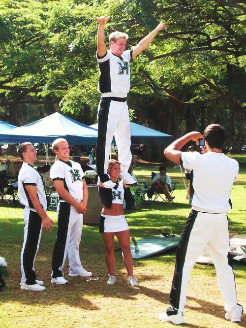Cheerleaders holding guy by his cock pity