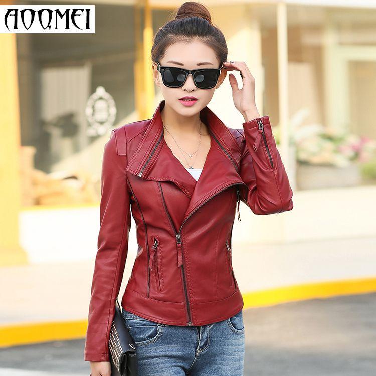 b5eae64b1d1ae Aliexpress.com  Comprar Envío gratis chaqueta de cuero mujeres abrigos  chaquetas nuevo 2015 mujeres