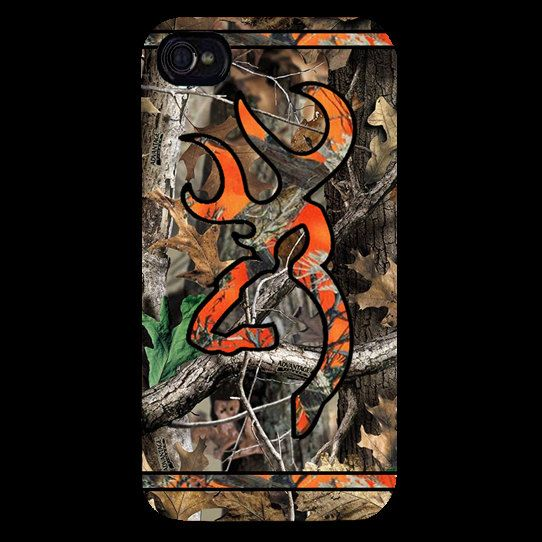 Orange Browning Camo Hunting iphone case