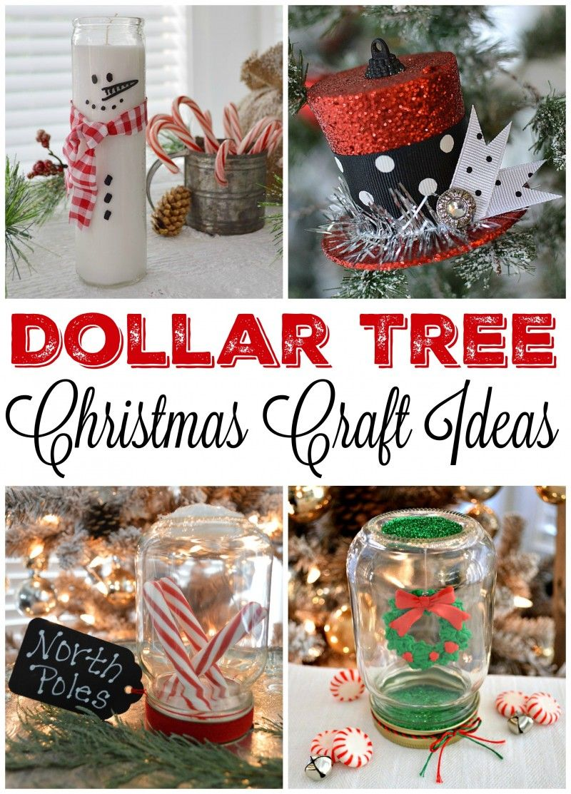 dollar tree christmas craft and decor ideas candles ornaments and mason jar snow globes wwwfoxhollowcottagecom - 99 Cent Store Christmas Decorations
