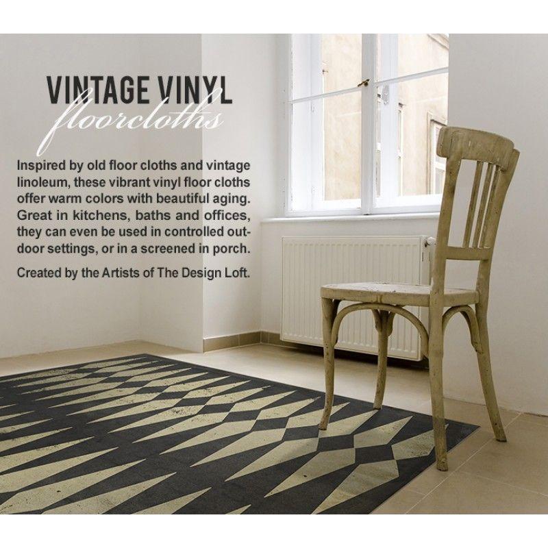 Painted Kitchen Floor Cloth: Vintage Vinyl Floor Cloths By Spicher