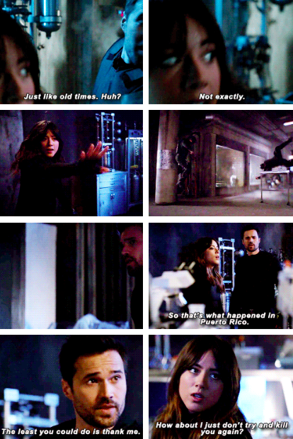Skye and ward together get do when Shocked into