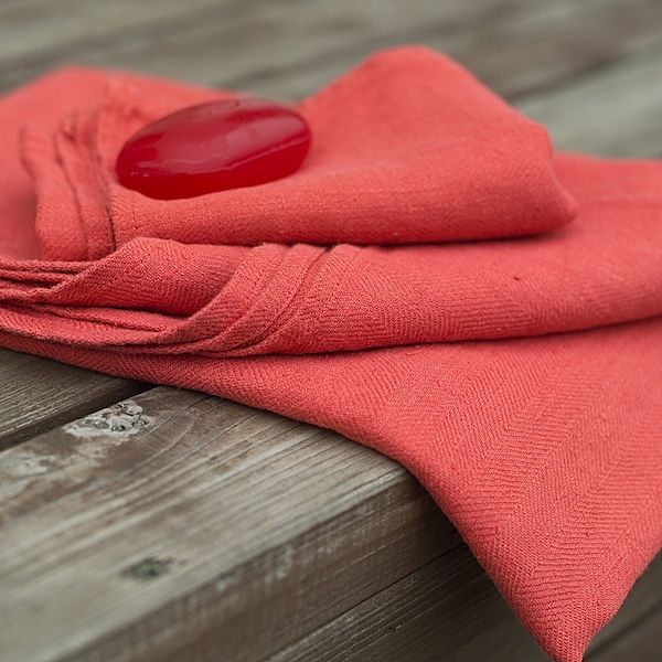 Set Of 2 Orange Linen Hand And Guest Towels Lara. £8.99