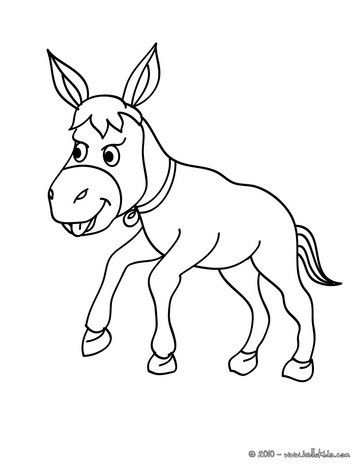 Color This Donkey Coloring Page With The Colors Of Your Choice Cute And Amazing Farm Animals C Farm Animal Coloring Pages Animal Coloring Pages Coloring Pages