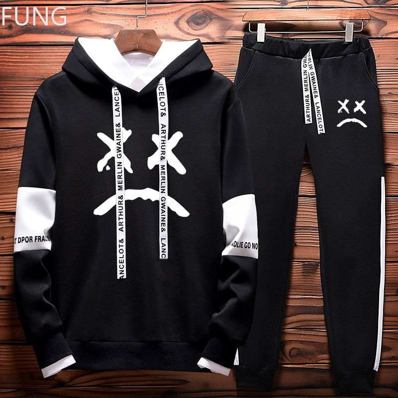 Fung Lil Peep Men S Set Fashion Mens Tracksuit Hip Hop Hoodies Sweatshirts Chandal Para Hombre Tienda De Ropa Urbana Ropa Urbana Hombre