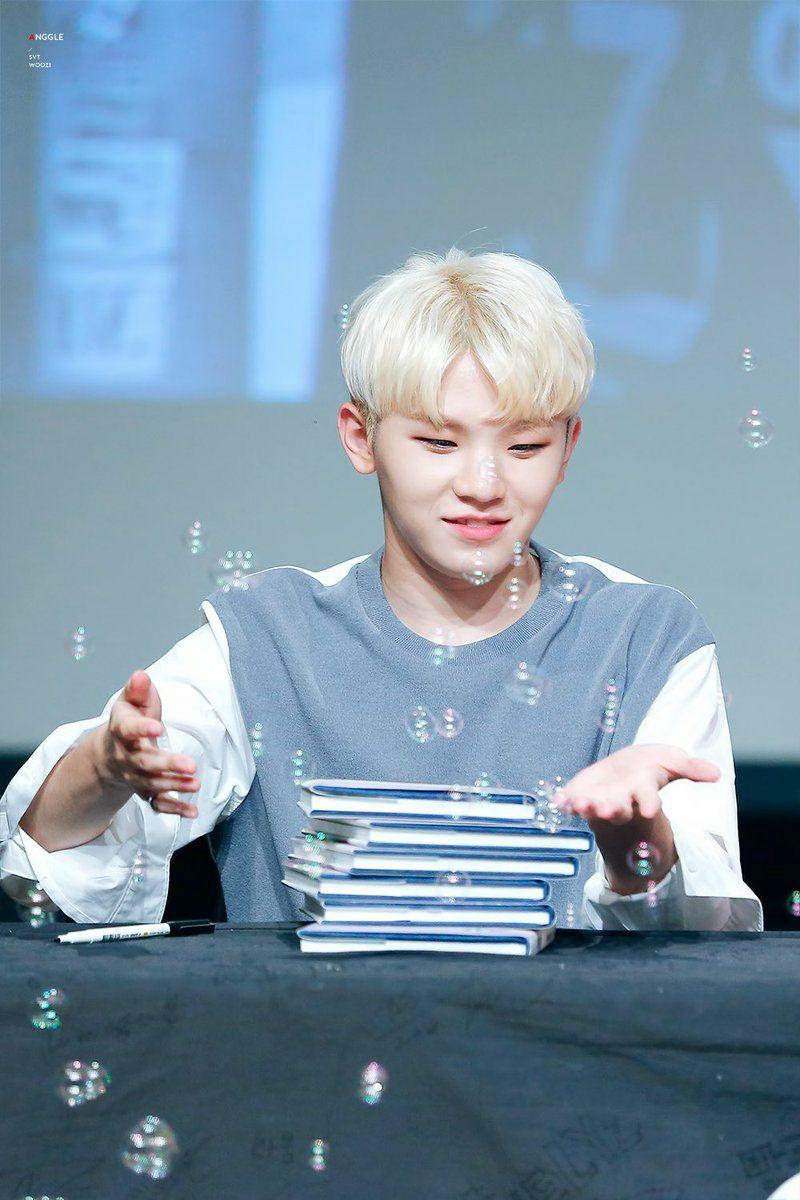Kpop Idols Bubbles On Twitter Woozi Seventeen Woozi Seventeen