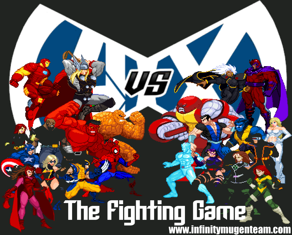 Avengers Vs X Men The Fighting Game Is Now Available As A Free Download Mugen Avx Marvelcomics Fighting Games Avengers X Men