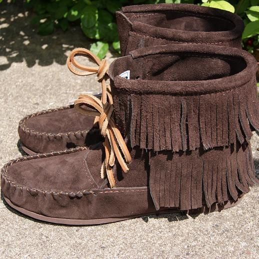 e749589c97d02 Mens or Womens fringe suede moccasins boots | Shoes | Moccasins ...