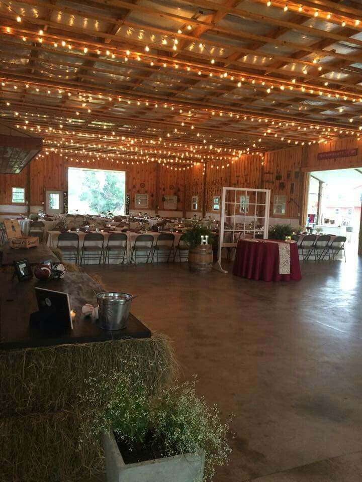 Wedding Reception At The Red Barn In Aiken South Carolina Colors Used Throughout Venue Window Wall Seperated Cake Table From Sweetheart