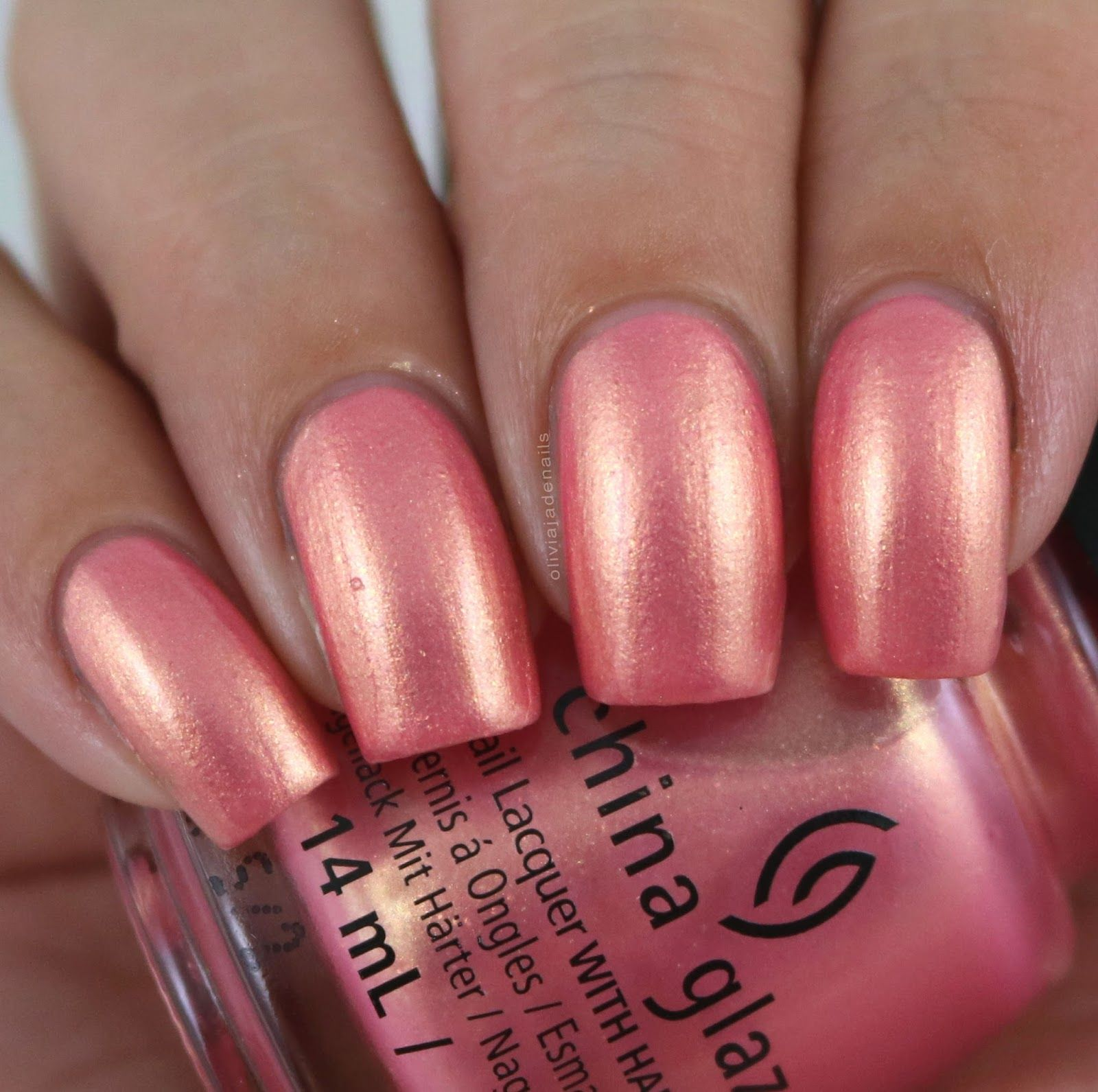 China Glaze Moment In The Sunset swatched by Olivia Jade Nails