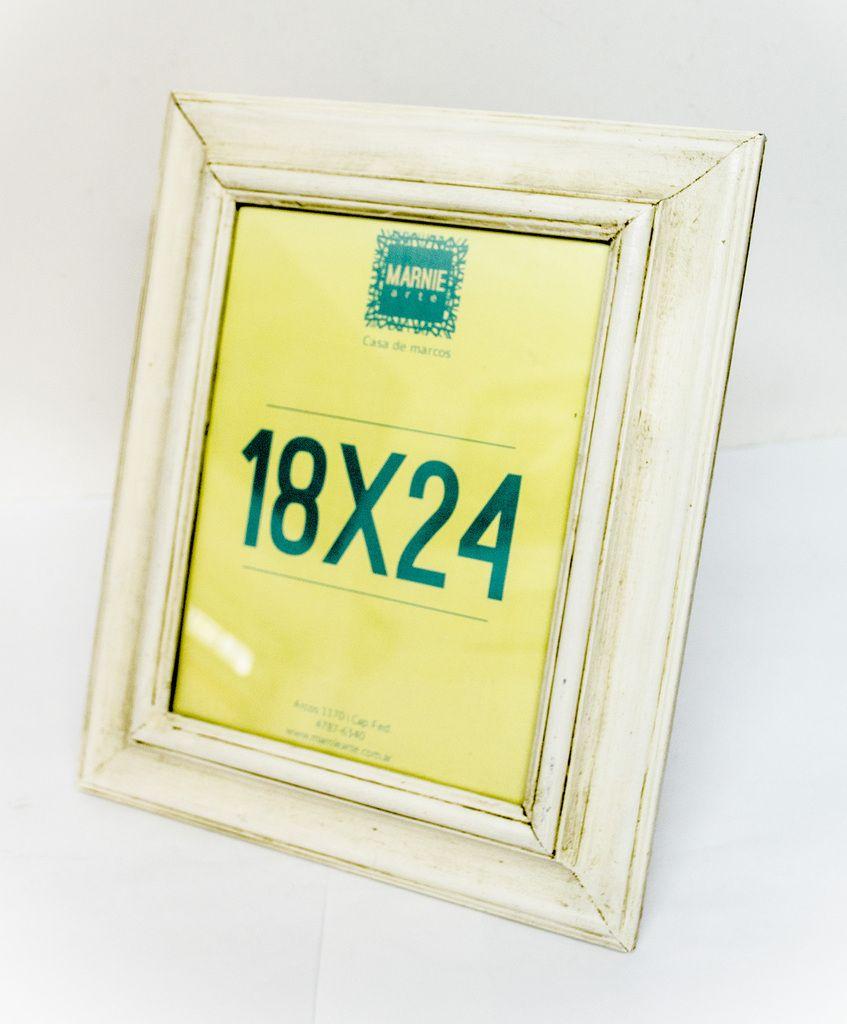 Medida para foto: 18x24 cm. Varilla: Marco Único Patinado Blanco ...