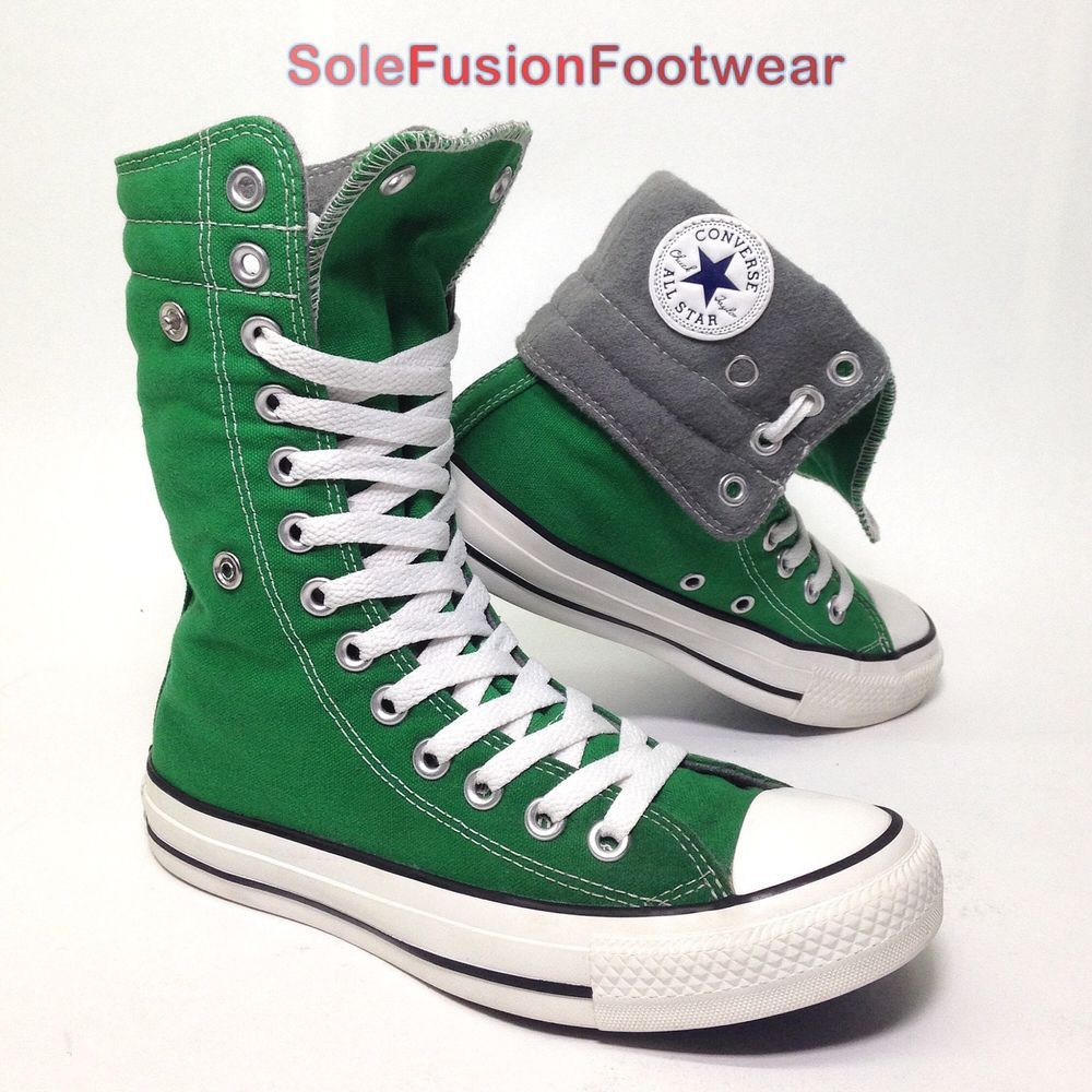aff69926aa73ef Converse Womens All Star High Top Trainers Green sz 4 X HI Knee Boots US 6  36.5