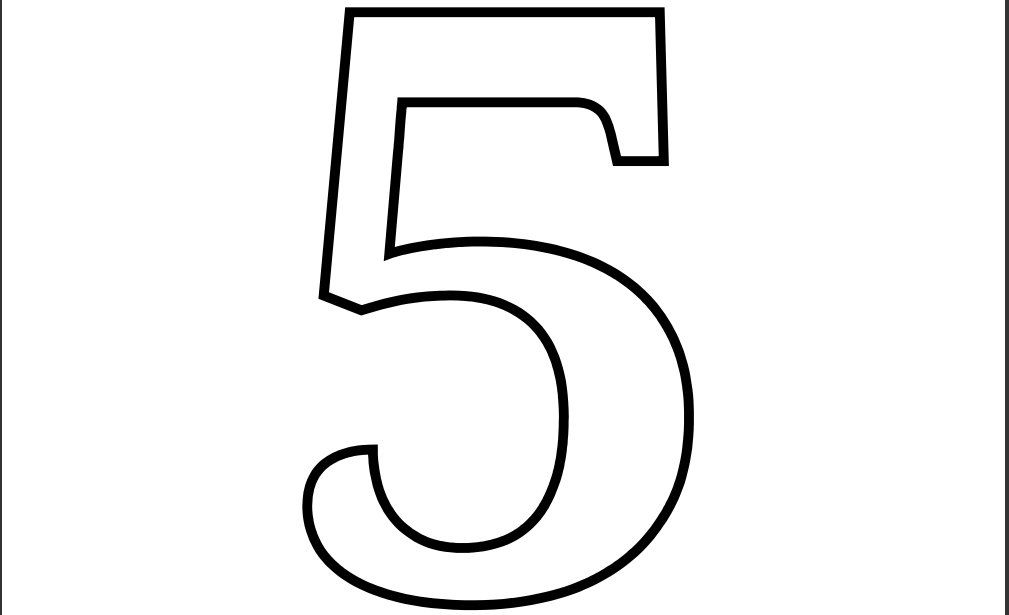 Number 5 Coloring Pages Printable Coloring Pages Printable Numbers Printable Banner Letters