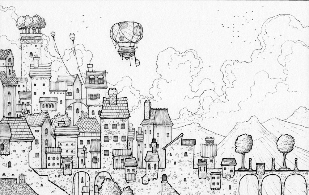 This Northern Boy Drawings Coloring Books Illustration