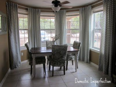 How To Make Your Own Curtain Rods On The Cheap Dining room