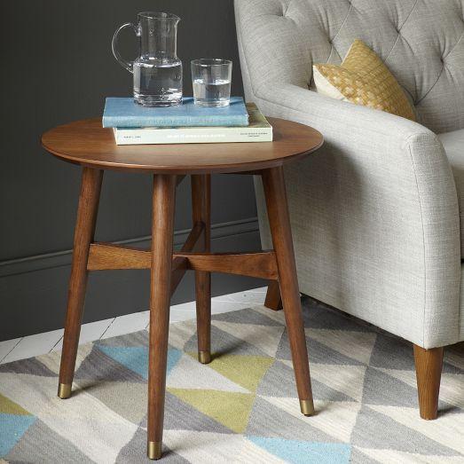Reeve Mid Century Coffee Table Marble Walnut: Reeve Mid-Century Side Table