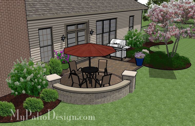Paver Patio Designs Product | Brick Patio With Circle Paver Pattern | Patio  Designs And Ideas