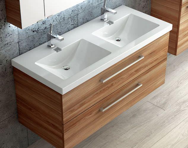 doppelwaschbecken + aufsatz waschtisch - google-suche | badkamer ... - Badtisch Doppelwaschbecken