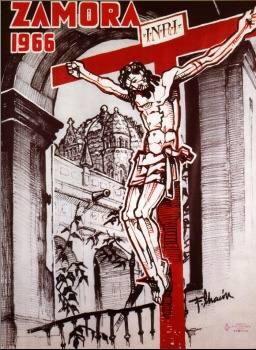 Cartel de la Semana Santa de Zamora. 1966. Cristo de las injurias
