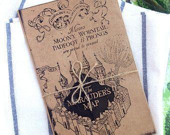 Marauders Map Printable Perfect for Menus Birthday Cards or