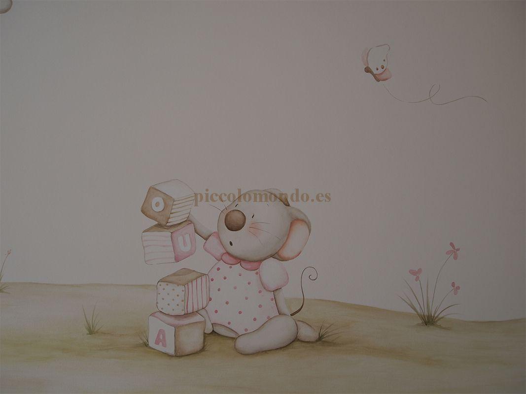 Murales infantiles pintados sobre paredes cuadritos - Pintar murales infantiles ...