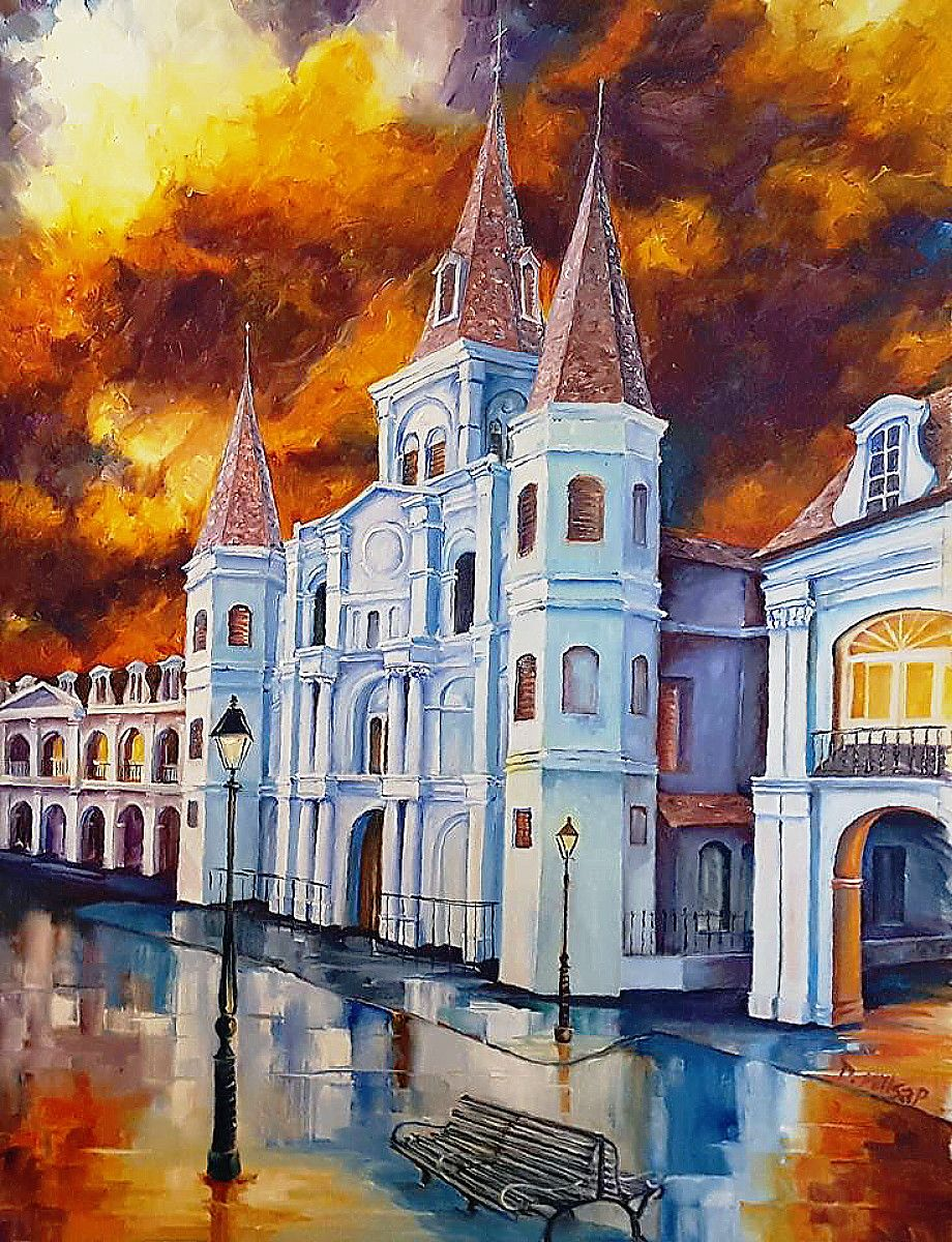 Diane millsap majestic st louis cathedral easels for