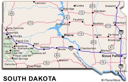 South Dakota Map RV Traveling Pinterest South Dakota Road - Map of south dakota