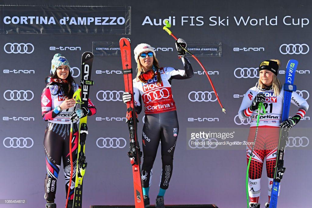 Tina Weirather Mikaela Shiffrin And Tamara Tippler Mikaela Shiffrin World Cup Skiing