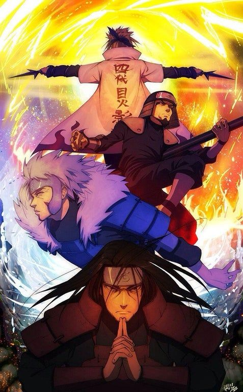 The cool Hokages iphone wallpaper.