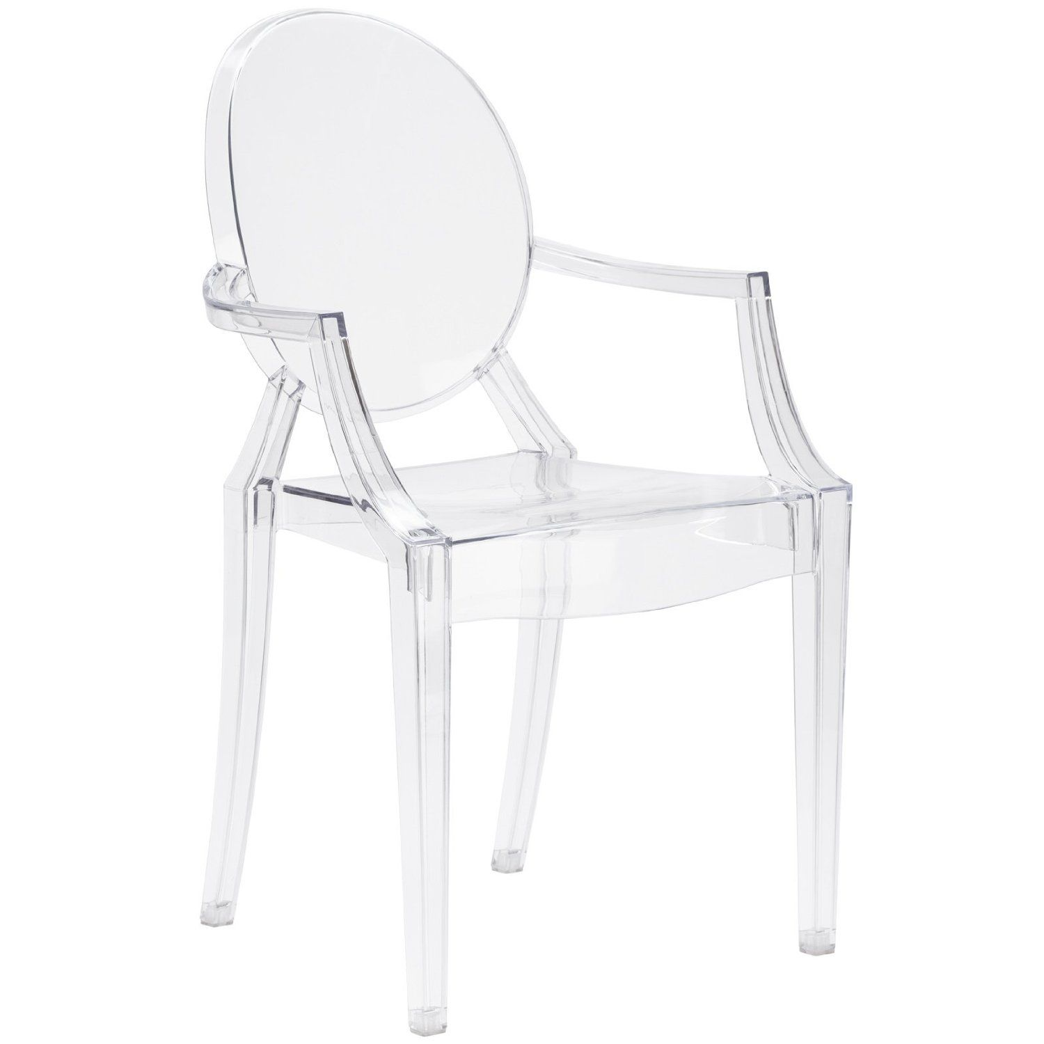 Amazon.com: Poly and Bark Louis Ghost Style Arm Chair, Clear ...