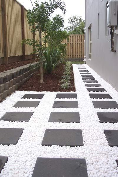 home white pebble garden
