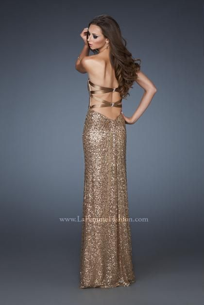 long prom dress sparkly gold