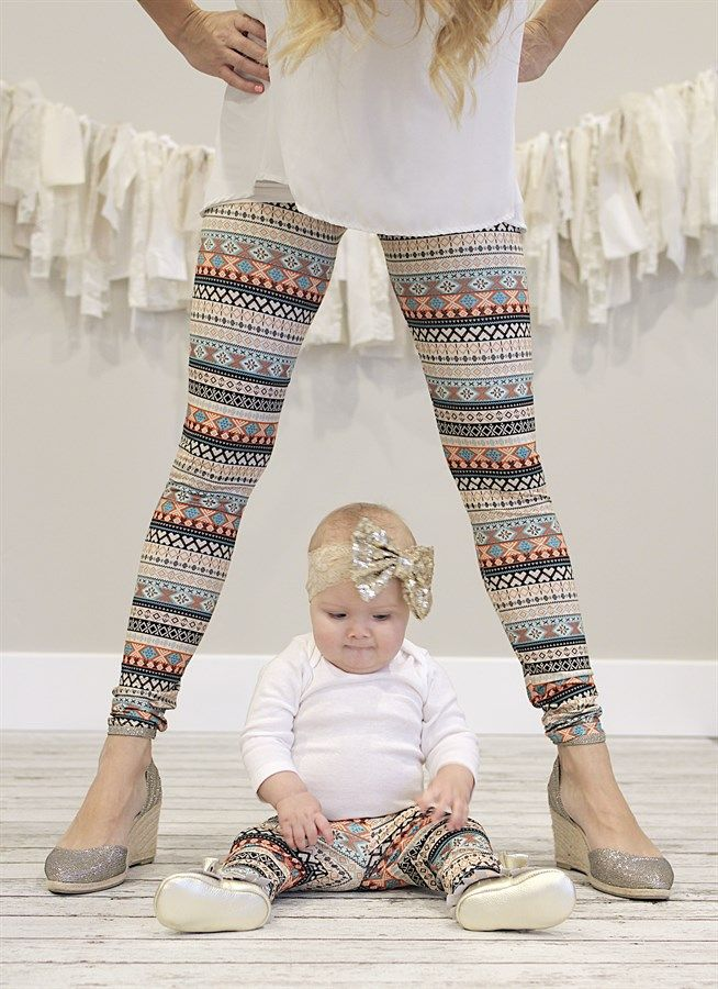 5fd8153d6561a0 Every child would LOVE to match their mommy! Now you can even match your  baby! These darling leggings are super soft and stretchy which allows them  to fit ...