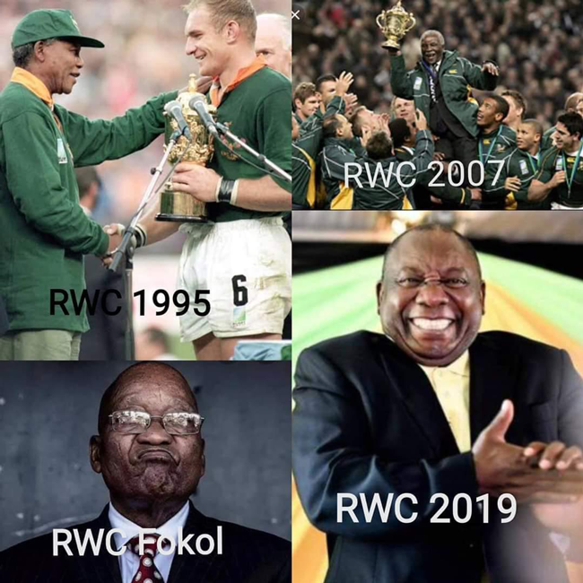 The 14 Best And Hilarious Memes Following The Springboks World Cup Victory In 2020 World Cup Funny Memes Memes
