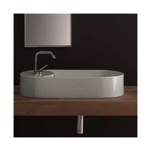 Seventy Ceramic Oval Vessel Bathroom Sink With Overflow раковина