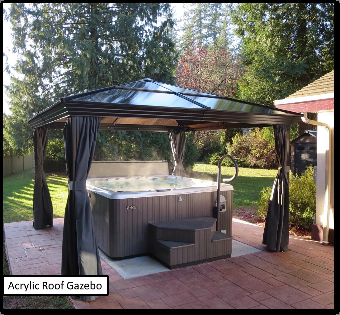 Hot Tub Under Costco Gazebo Hot Tub Landscaping Gazebo Modern