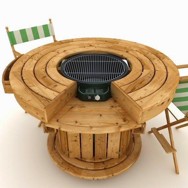 Pin By Cinnamonskyes On Pallets Amp Cable Spools Grill