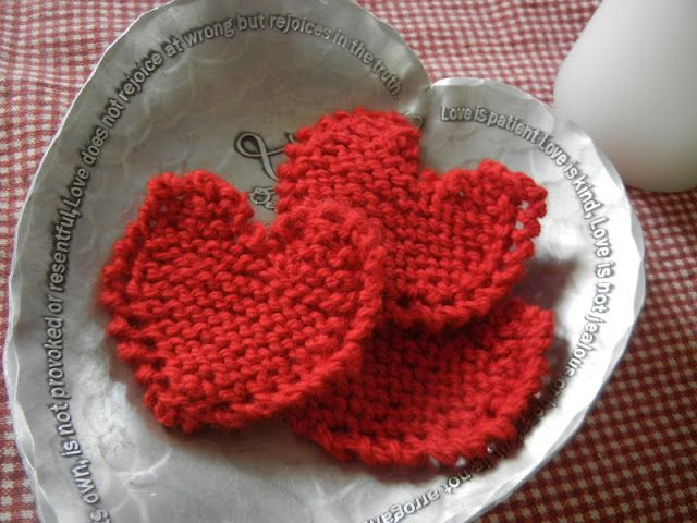 Cute Free Knitting Pattern For Mini Hearts Great For Making Heart