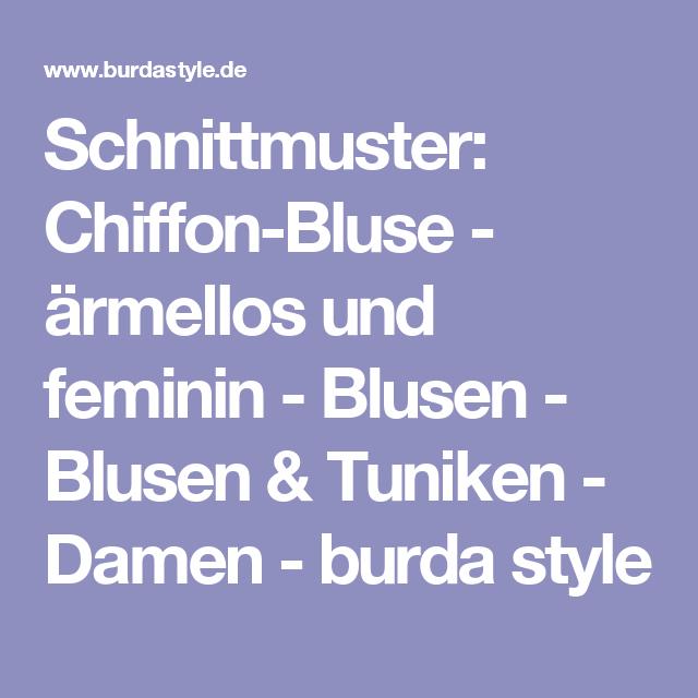 Schnittmuster: Chiffon-Bluse - ärmellos und feminin - Blusen ...