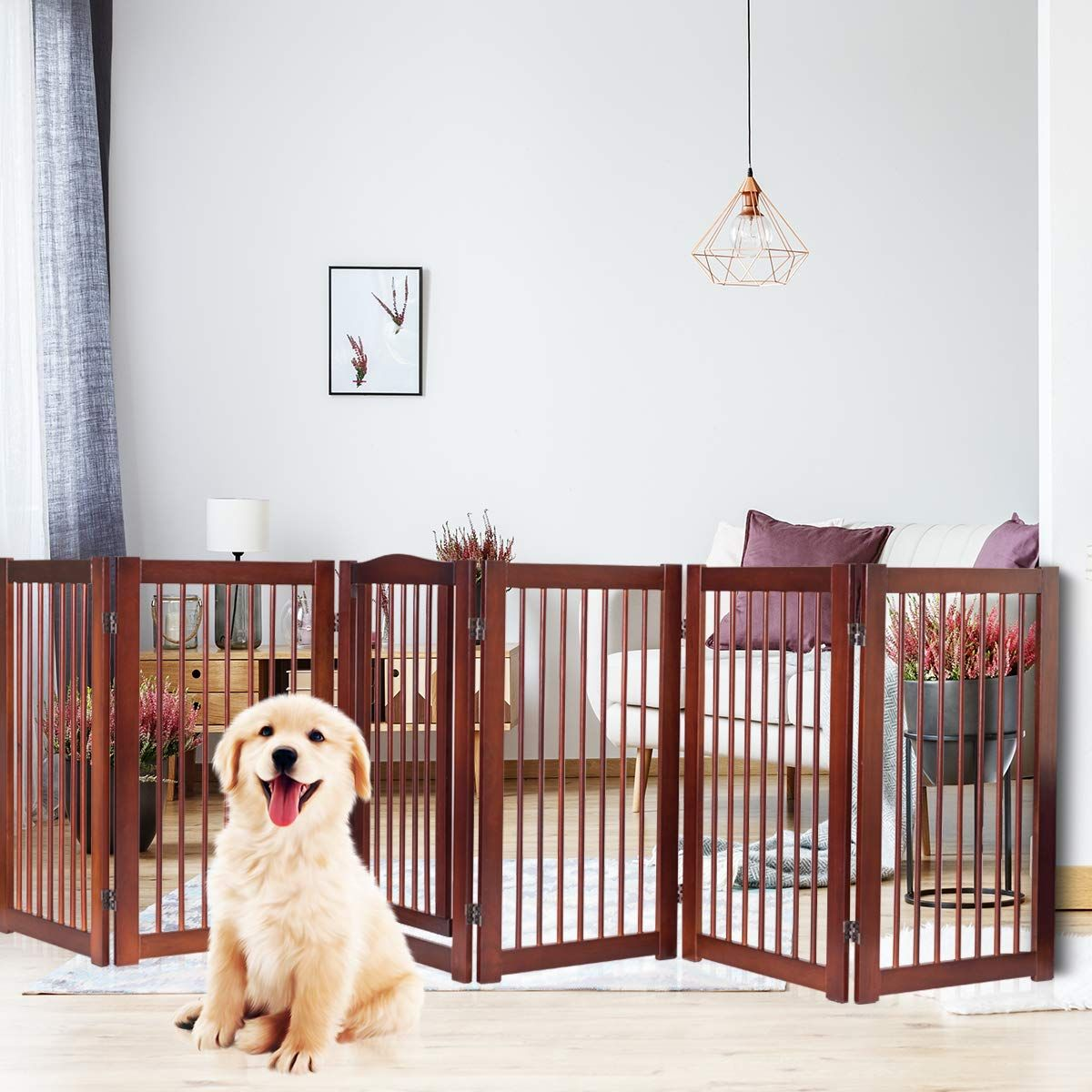 Petsjoy 36 H Pet Dog Gate Fence Check Out The Image By Visiting The Link It Is An Affiliate Link To Amazon In 2020 Dog Gate Dog Safety Dog Fence