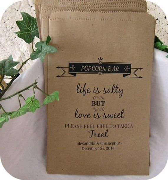 Minimum Order Is 24 Bags Stock Your Popcorn Bar With These Custom Personalized Wedding They Are The Perfect Size To Hold A Snack Up