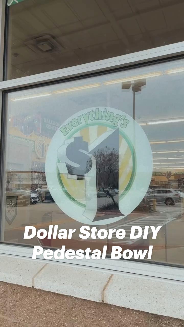 Dollar Store DIY Pedestal Bowl