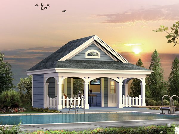 summerville pool cabana plan plan 009d 7524 house plans and more - Pool House Plans