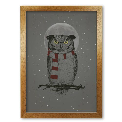 Photo of East Urban Home Poster Winter Owl by Mercedes Lopes Charro | Wayfair.de