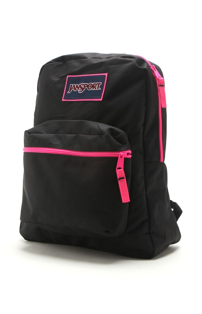 cbbec7403769 The colors black and pink always look cute together. <3 Black Jansport,