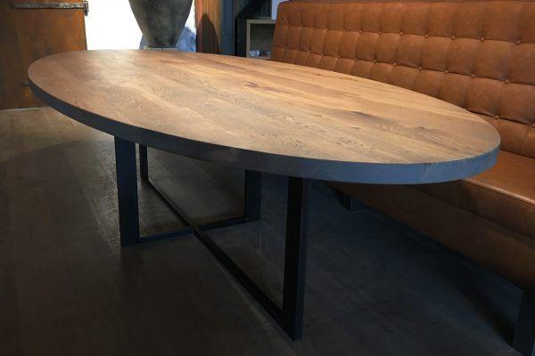 Robuuste Kersenhouten Eettafel.Ovale Tafels Zwaartafelen Made In Holland Robuuste