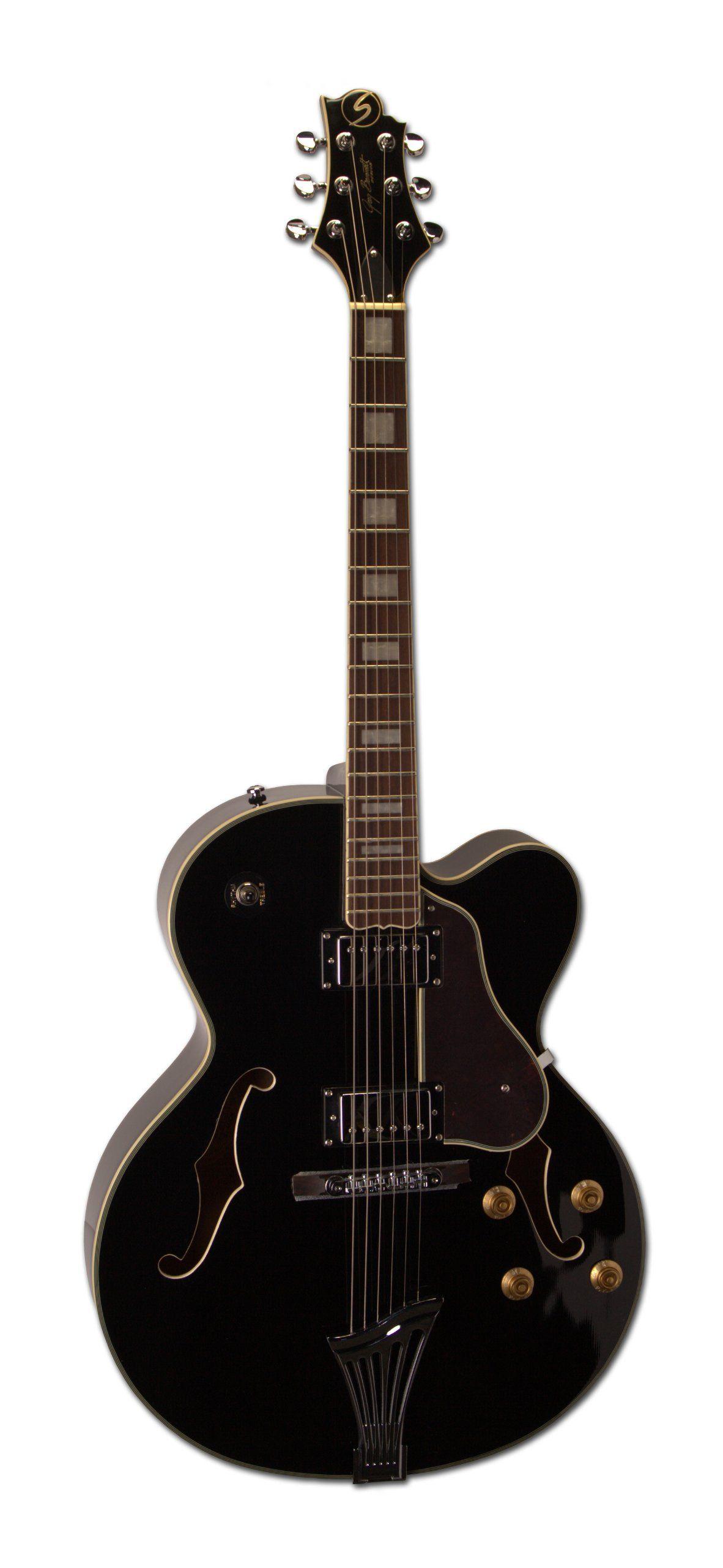 samick greg bennett design jz1 electric guitar black hollow body samick greg bennett design jz1 electric guitar black hollow body mahogany set neck