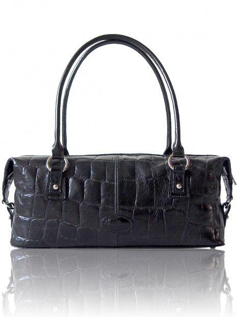 329a87f01b29 Mulberry Vintage Black Congo Leather Lena Baguette Shoulder Bag. 36x16x10 cm.  Preloved £295