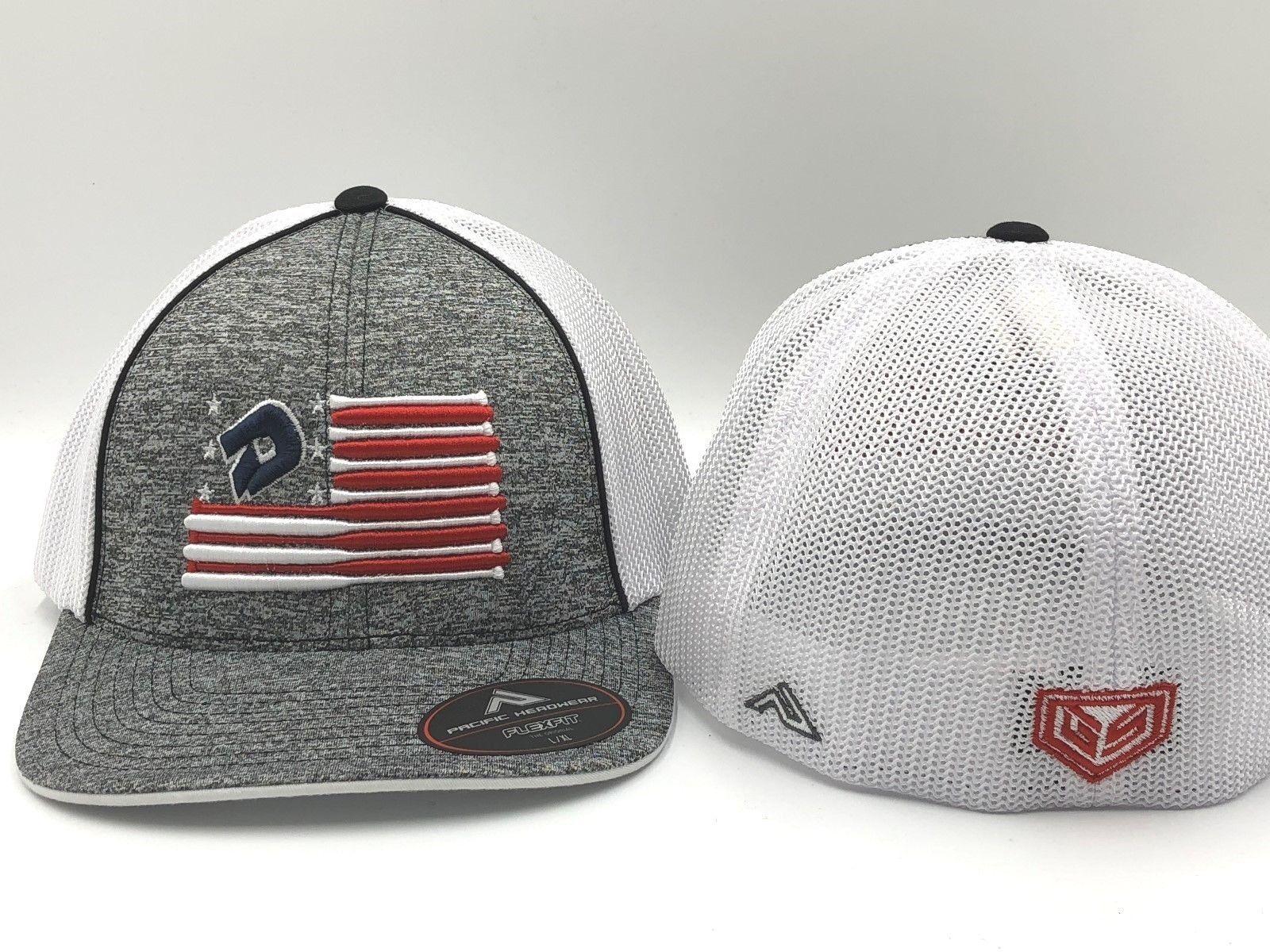 26fcbb33042 Hats and Headwear 159057  Demarini America Bat Flag Flexfit Trucker Style  Heather Hat -