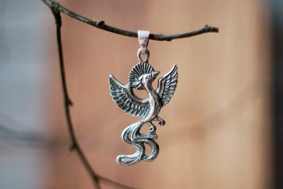 Sterling silver phoenix pendant phoenix necklace firebird sterling silver phoenix pendant phoenix necklace firebird fantasy bird pendant phoenix jewelry symbol of hope rebirth mozeypictures Gallery